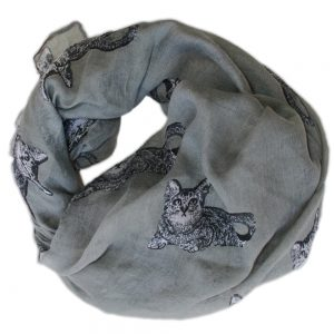 Scarf big grey