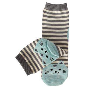 Socks stripe blue