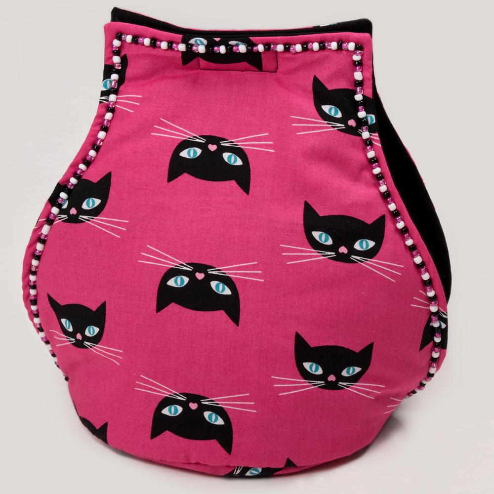 Dark Pink Kitchen Accessories: Kitchen Accessories: Hot Pink With Black Kitties