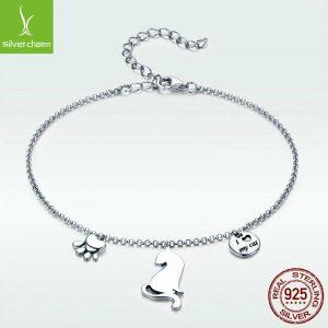 sterling silver bracelet 3 charms1
